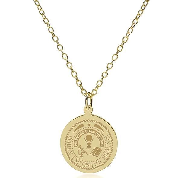 Miami University 14K Gold Pendant & Chain - Image 2