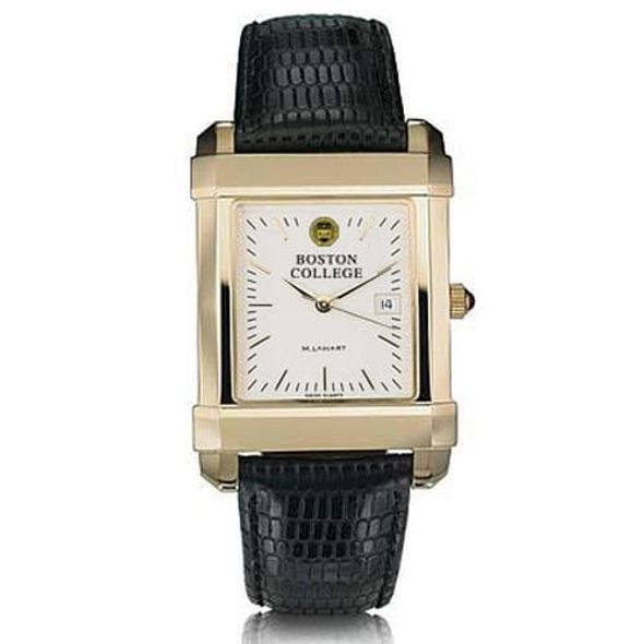 Boston College Men's Gold Quad Watch with Leather Strap - Image 2