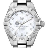TCU Women's TAG Heuer Steel Aquaracer with MOP Diamond Dial