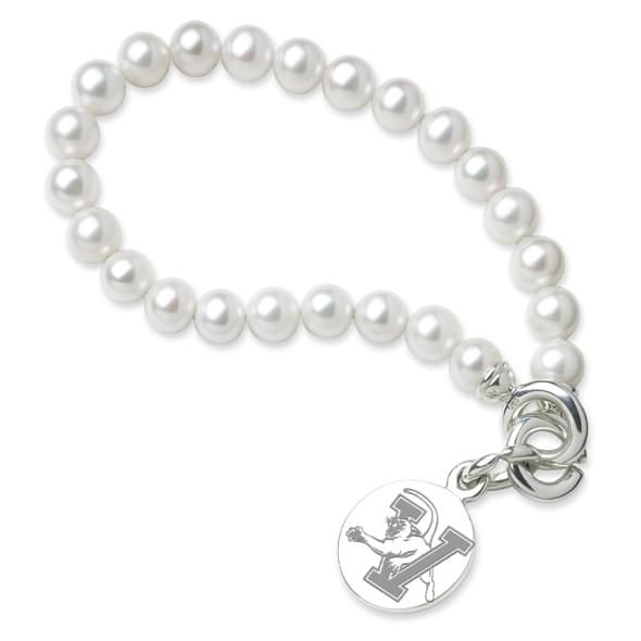 UVM Pearl Bracelet with Sterling Silver Charm