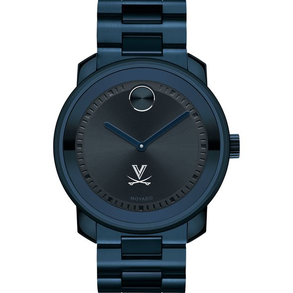 University of Virginia Men's Movado BOLD Blue Ion with Bracelet - Image 2