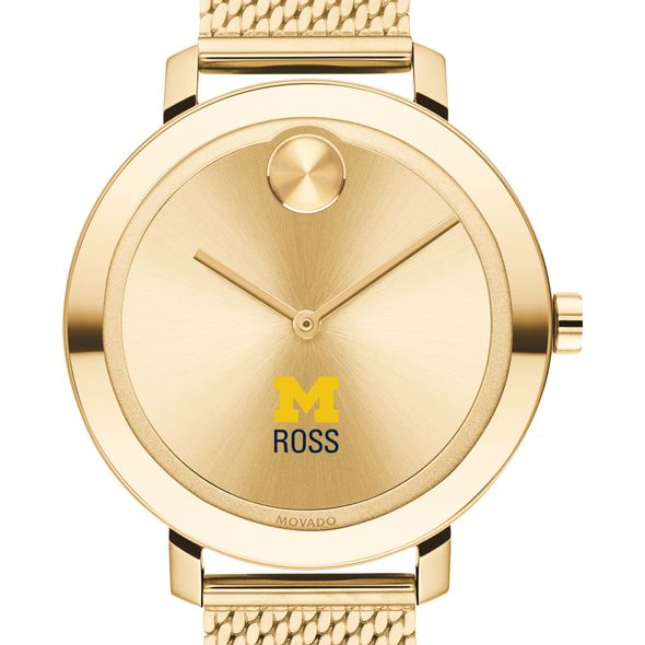 Michigan Ross Women's Movado Bold Gold with Mesh Bracelet - Image 1