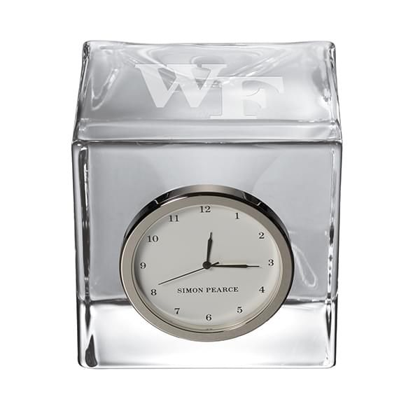 Wake Forest Glass Desk Clock by Simon Pearce