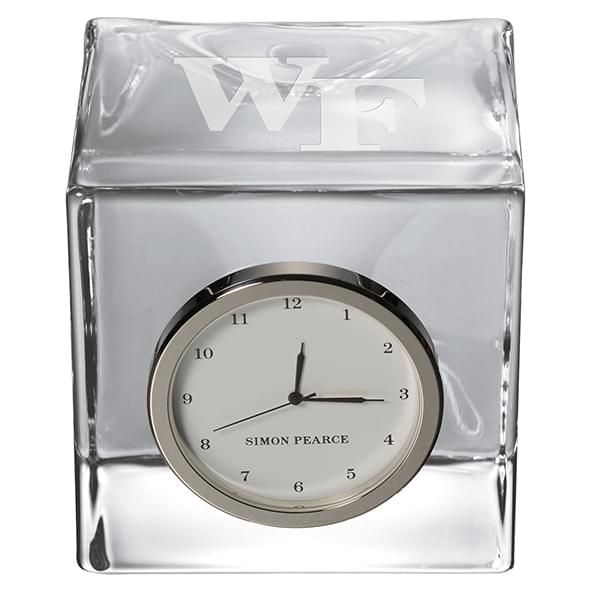 Wake Forest Glass Desk Clock by Simon Pearce - Image 2