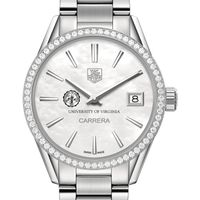 UVA Women's TAG Heuer Steel Carrera with MOP Dial & Diamond Bezel