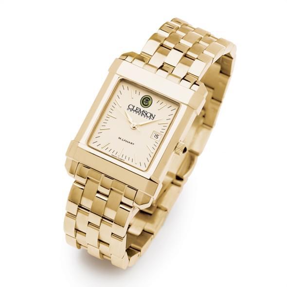 Clemson Men's Gold Quad Watch with Bracelet - Image 2
