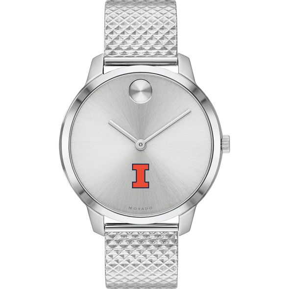 University of Illinois Women's Movado Stainless Bold 35 - Image 2
