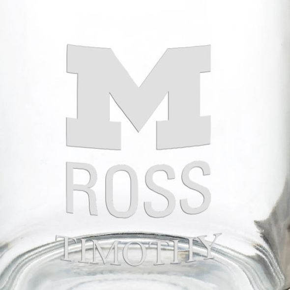 Ross School of Business 13 oz Glass Coffee Mug - Image 3