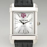 Texas A&M Men's Collegiate Watch with Leather Strap