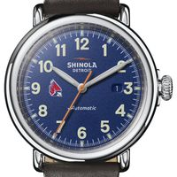 Ball State Shinola Watch, The Runwell Automatic 45mm Royal Blue Dial