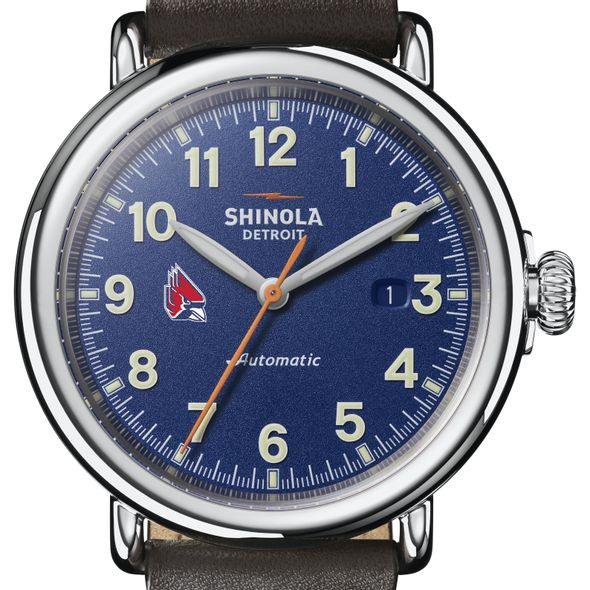 Ball State Shinola Watch, The Runwell Automatic 45mm Royal Blue Dial - Image 1