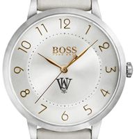 WUSTL Women's BOSS White Leather from M.LaHart