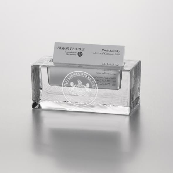 Penn State Glass Cardholder by Simon Pearce - Image 2