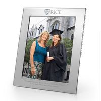 Rice University Polished Pewter 8x10 Picture Frame