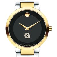 Georgetown University Men's Movado Two-Tone Modern Classic Museum with Bracelet