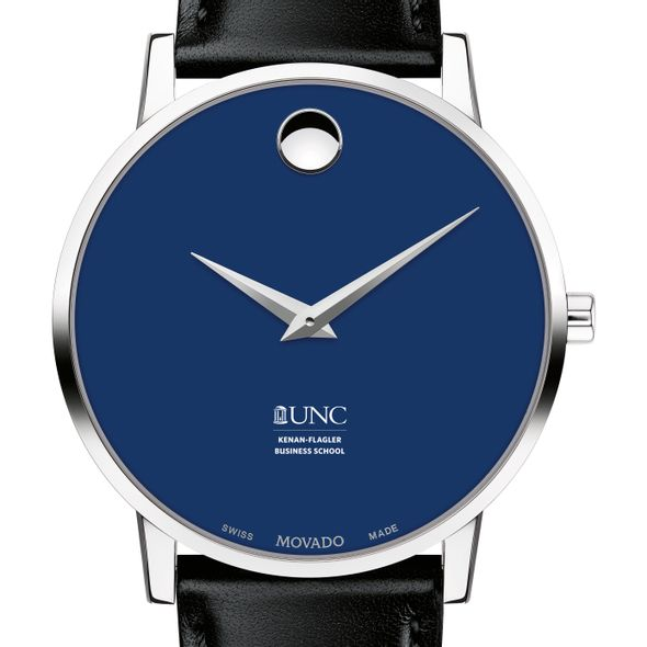 UNC Kenan–Flagler Business School Men's Movado Museum with Blue Dial & Leather Strap