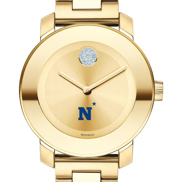 US Naval Academy Women's Movado Gold Bold