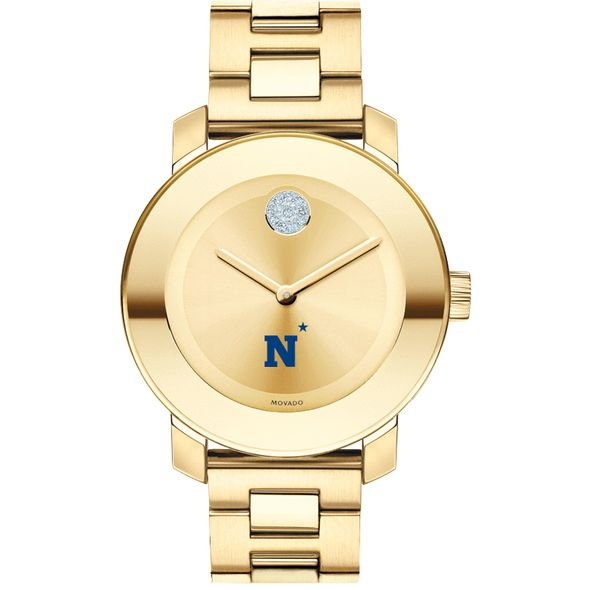 US Naval Academy Women's Movado Gold Bold - Image 2
