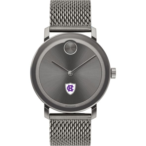 Holy Cross Men's Movado BOLD Gunmetal Grey with Mesh Bracelet - Image 2
