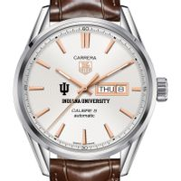 Indiana University Men's TAG Heuer Day/Date Carrera with Silver Dial & Strap