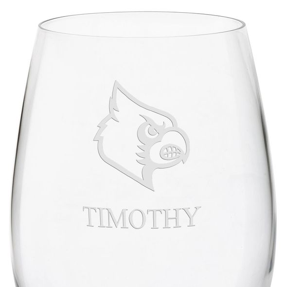 University of Louisville Red Wine Glasses - Set of 2 - Image 3