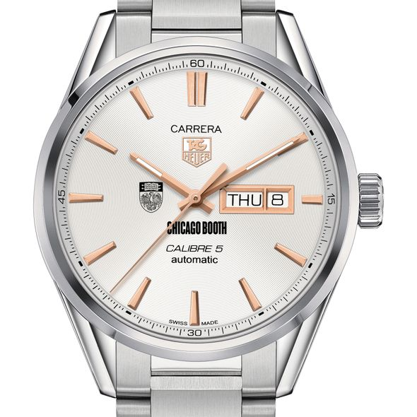 Chicago Booth Men's TAG Heuer Day/Date Carrera with Silver Dial & Bracelet - Image 1