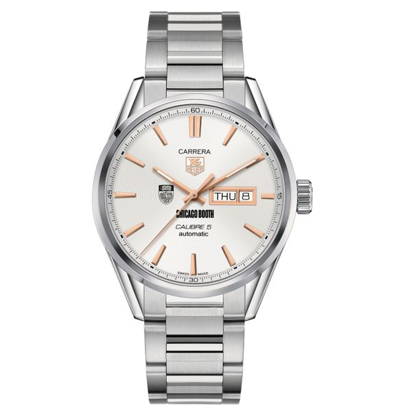 Chicago Booth Men's TAG Heuer Day/Date Carrera with Silver Dial & Bracelet - Image 2