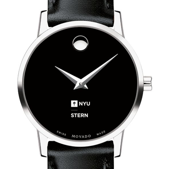 NYU Stern Women's Movado Museum with Leather Strap - Image 1