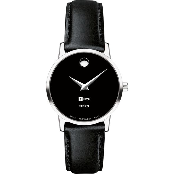 NYU Stern Women's Movado Museum with Leather Strap - Image 2