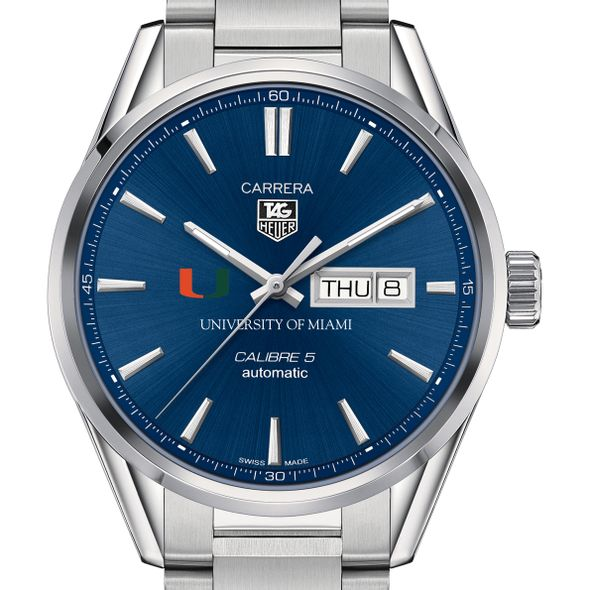 University of Miami Men's TAG Heuer Carrera with Day-Date