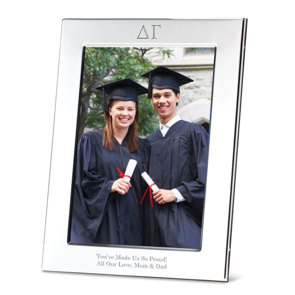 Delta Gamma Polished Pewter 5x7 Picture Frame - Image 1