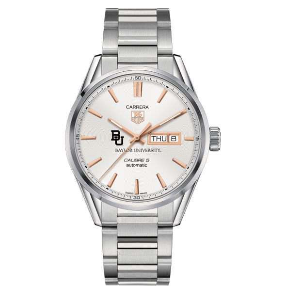 Baylor University Men's TAG Heuer Day/Date Carrera with Silver Dial & Bracelet - Image 2