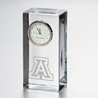 University of Arizona Tall Glass Desk Clock by Simon Pearce