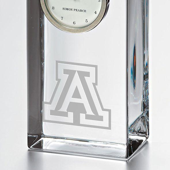 University of Arizona Tall Glass Desk Clock by Simon Pearce - Image 2
