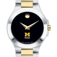 Michigan Ross Women's Movado Collection Two-Tone Watch with Black Dial