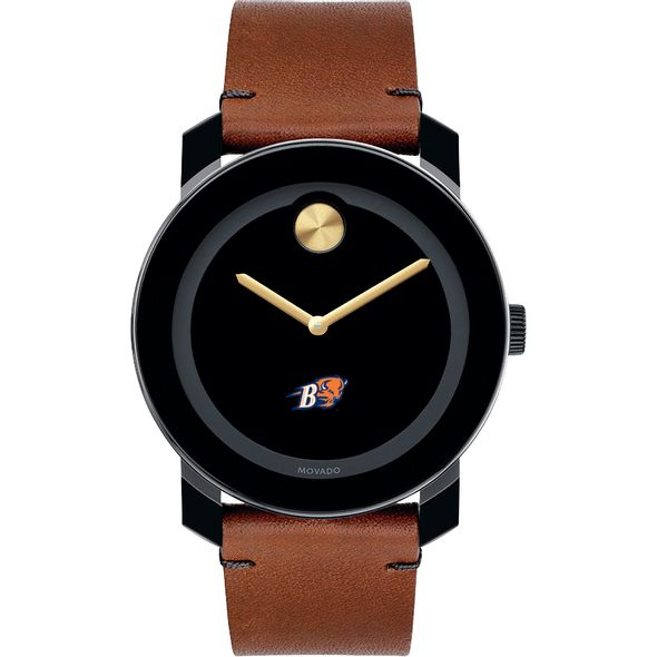 Bucknell University Men's Movado BOLD with Brown Leather Strap - Image 2