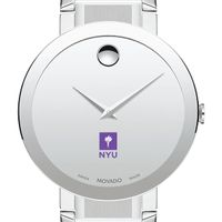 New York University Men's Movado Sapphire Museum with Bracelet