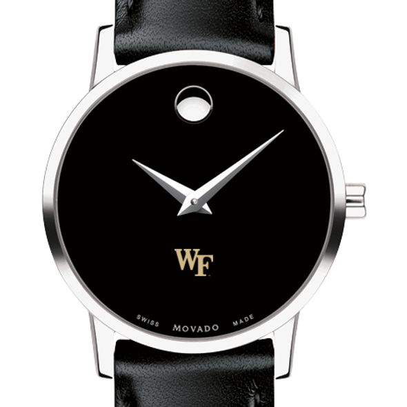 Wake Forest University Women's Movado Museum with Leather Strap - Image 1