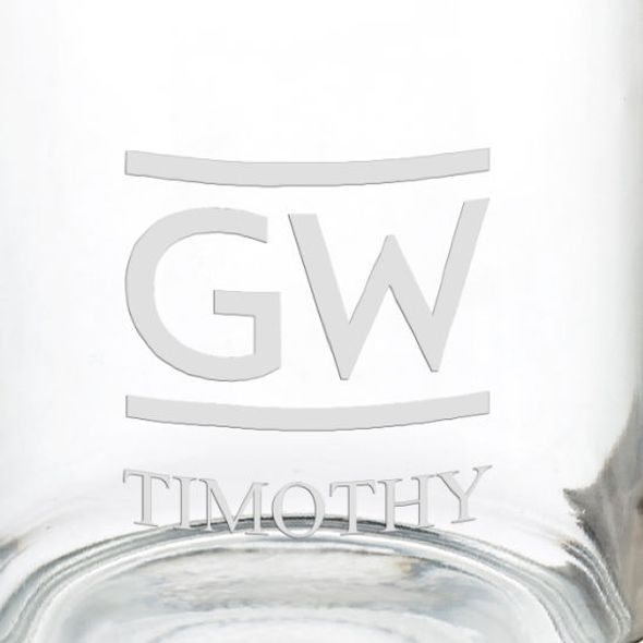 George Washington University 13 oz Glass Coffee Mug - Image 3