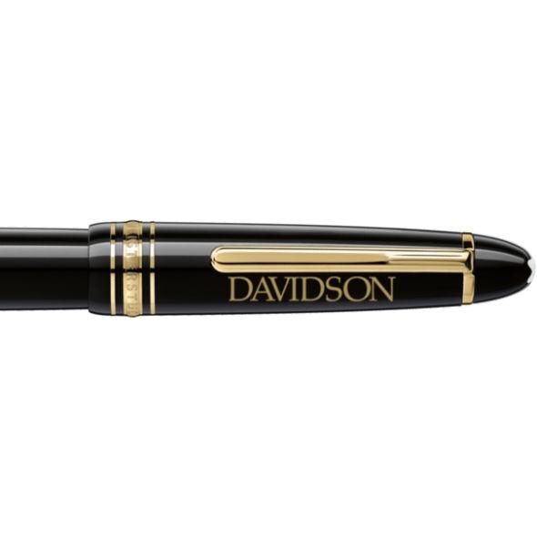 Davidson College Montblanc Meisterstück LeGrand Rollerball Pen in Gold - Image 2