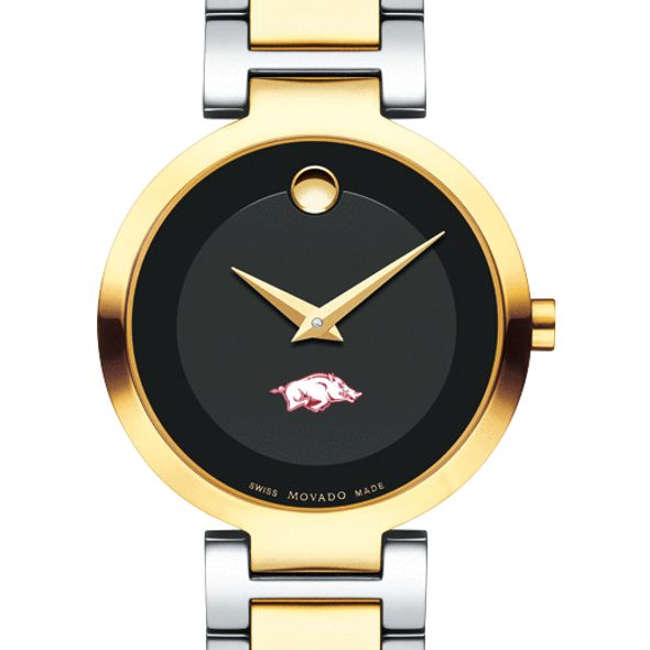 University of Arkansas Women's Movado Two-Tone Modern Classic Museum with Bracelet