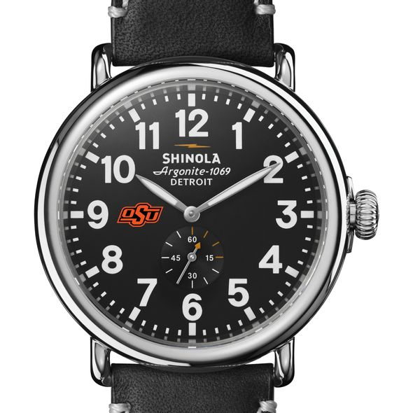 Oklahoma State Shinola Watch, The Runwell 47mm Black Dial