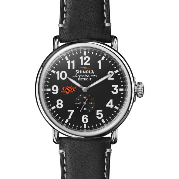 Oklahoma State Shinola Watch, The Runwell 47mm Black Dial - Image 2