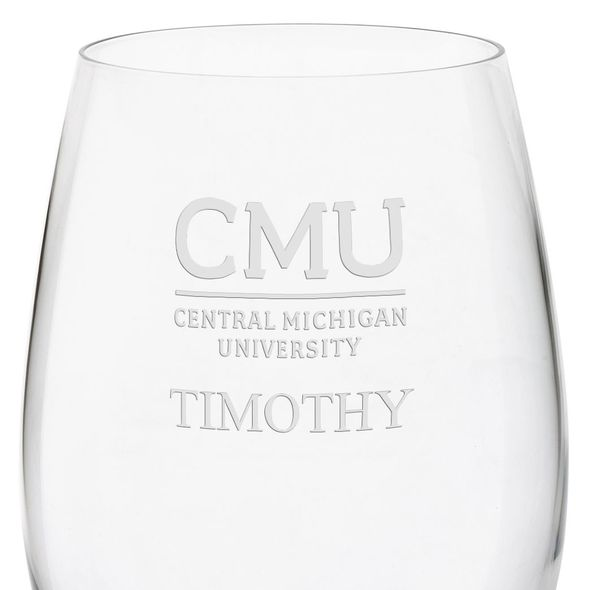 Central Michigan Red Wine Glasses - Set of 4 - Image 3