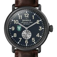 Tulane Shinola Watch, The Runwell 47mm Midnight Blue Dial