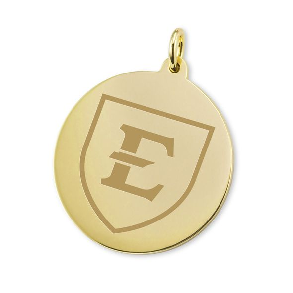 East Tennessee State University 14K Gold Charm