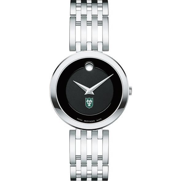 Tulane University Women's Movado Esparanza Stainless Steel Museum with Bracelet - Image 2