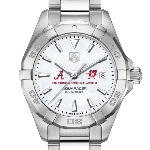 Alabama Crimson Tide 2017 National Championship Women's TAG Heuer Steel Aquaracer w MOP Dial