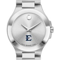 East Tennessee State Women's Movado Collection Stainless Steel Watch with Silver Dial