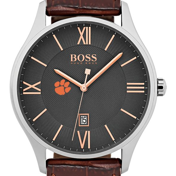 Clemson Men's BOSS Classic with Leather Strap from M.LaHart